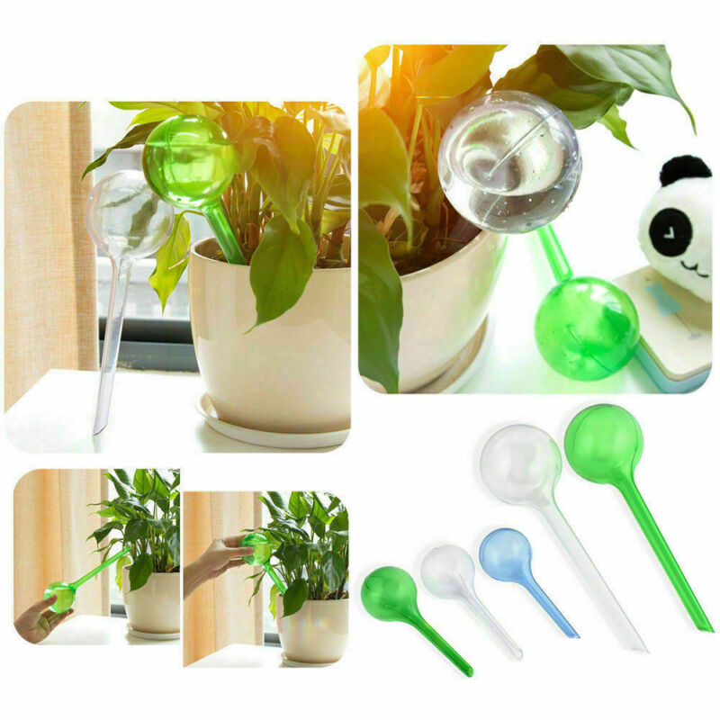Self Watering Plant Bulb Fake Glass Water Globe Indoor Outdo
