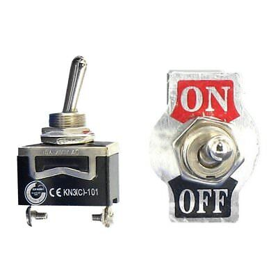 Toggle Switch Heavy Duty 20a 125v Spst 2 Terminal Onoff Car Waterproof Boot Atv