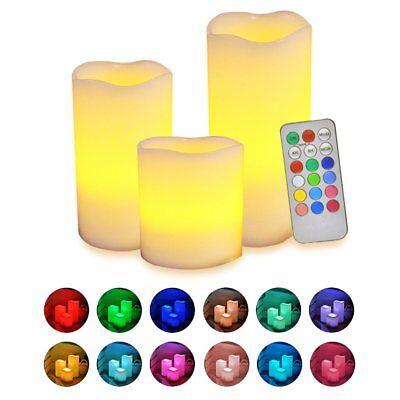 Remote Control Flameless LED Tea Light Candles Halloween Xmas Christmas Decor AU