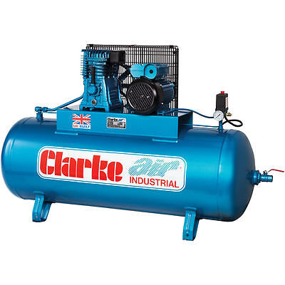 Latest CLARKE GARAGE TYPE AIR COMPRESSOR XE18/200 4HP 230 volt O/L 18CFM 200LTR