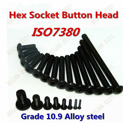 M2 M3 M4 M5 M6 M8 10.9 Grade Black Alloy Steel Hex Socket Button Head Screw Bolt