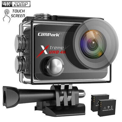 Native 4K Action Camera Campark FHD Wifi 20MP 40M Waterproof EIS Video Sport Cam