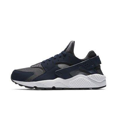 Dark Silver Air - Nike Air Huarache Run Dark Grey Metallic Silver Midnight Navy Blue 318429 038