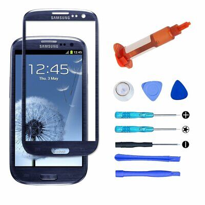 For Samsung Galaxy S3 Blue Front Screen Glass Lens Replacement Tools UV Glue Kit (Galaxy S3 Screen Replacement Blue)