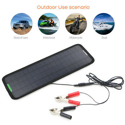 Handy Solar Panel 12V 5W Battery Charger System Maintainer Marine Boat RV Car