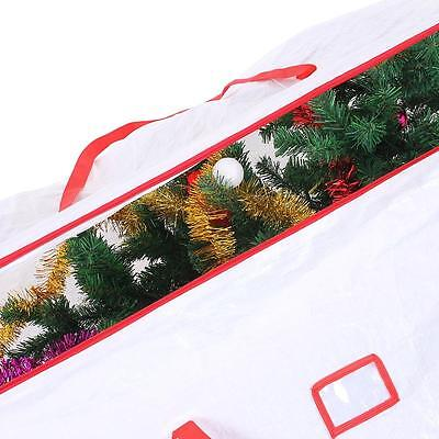 Xmas Holiday Artificial Christmas Tree Storage Heavy Duty Up to 9ft with Zipper