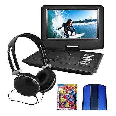 "Ematic Ematic 10"" Portable Swivel Screen DVD Player Black w/Headphones Essential"
