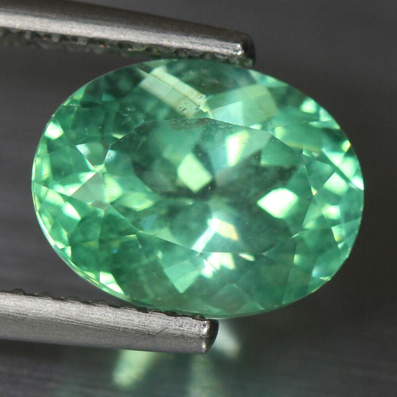 3.31 Cts_RAVISHING !! Best Color_100 % Natural UNHEATED Paraiba GREEN Apatite