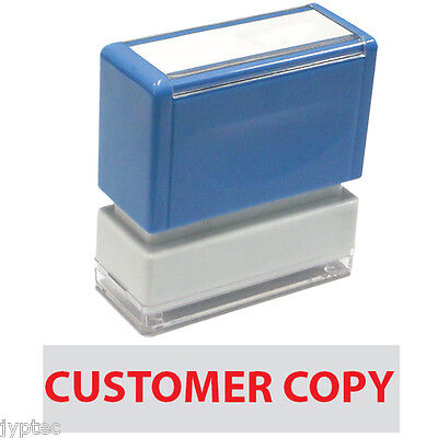 Customer Copy - Jyp Pa1040 Pre-inked Rubber Stamp Red Ink