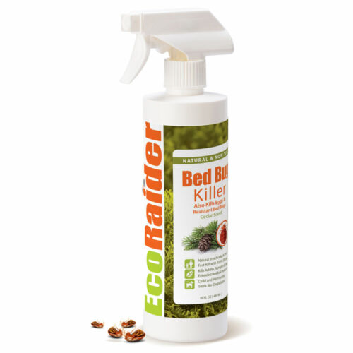 2 Pack, EcoRaider Bed Bug Killer. Plant Extract based. 16 oz. cedar scent.