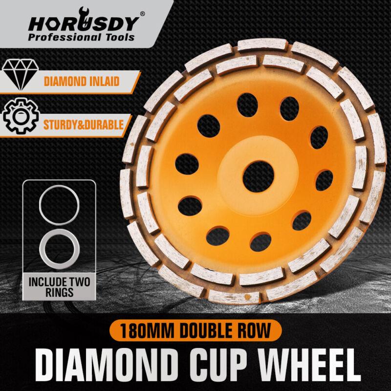 7 Inch Grinding Wheel Double Row Diamond Cup Angle Grinder 28 seg Concrete Tile