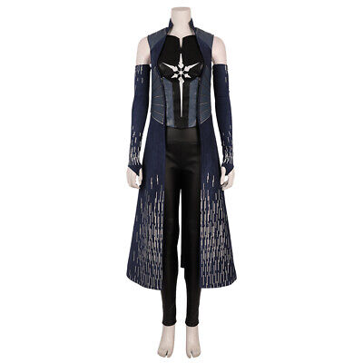 Cheap Cosplay Outfits (Superhero The Flash SE.6 Killer Frost Cosplay Leather Cloak Full Set)