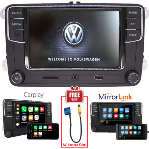 "6.5"" VW Autoradio MIB2 RCD330+ CarPlay Mirrorlink BT Tiguan Golf Polo EOS PASSAT"