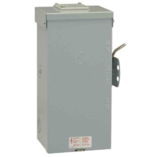 Emergency Power Transfer Switch Non Fused Generator Manual GE 100 Amp 240 Volt