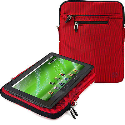 Red Nylon Sleeve Shoulder Bag Pouch For Lenovo TAB2 A10 Yoga Tab 3 Pro 10.1-Inch, used for sale  Shipping to India