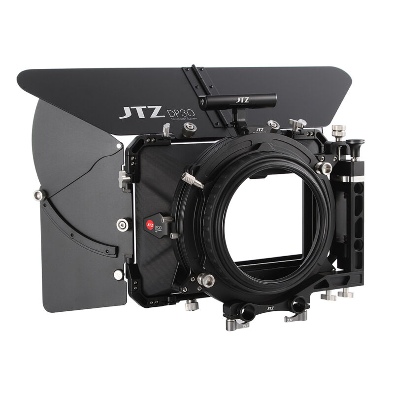 "JTZ DP30 4x5.65"" Carbon Fiber Matte Box 15mm and 19mm For Sony ARRI RED Canon"
