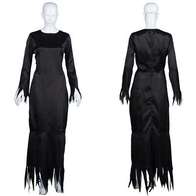 Black Dress Cosplay The Addams Family Morticia Halloween Party Costume - Morticia Addams Dress Costume