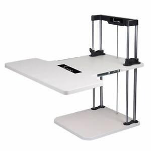 Luxo Sherwin 2 Tier Ergonomic Sit & Stand Desk - White Seven Hills Blacktown Area Preview