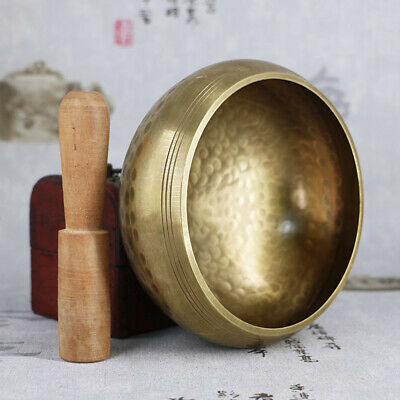 Tibetan Buddhist Singing Bowl Buddha Sound Bowl Musical Instrument For Yoga X6E1