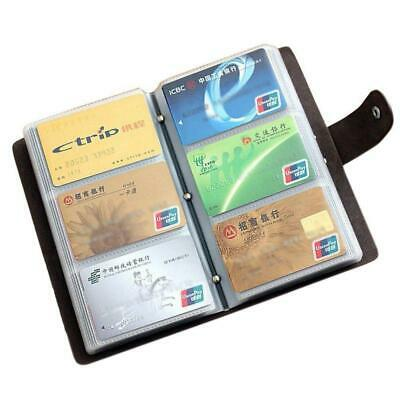 Boshiho Leather Credit Card Holder Business Id Card Case Book Style 90 Count