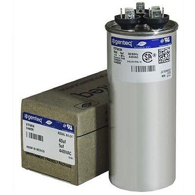 Ge Dual Run Capacitor 40 5 Uf Mfd 440V Round Air Conditioner Part Repair 97F9838