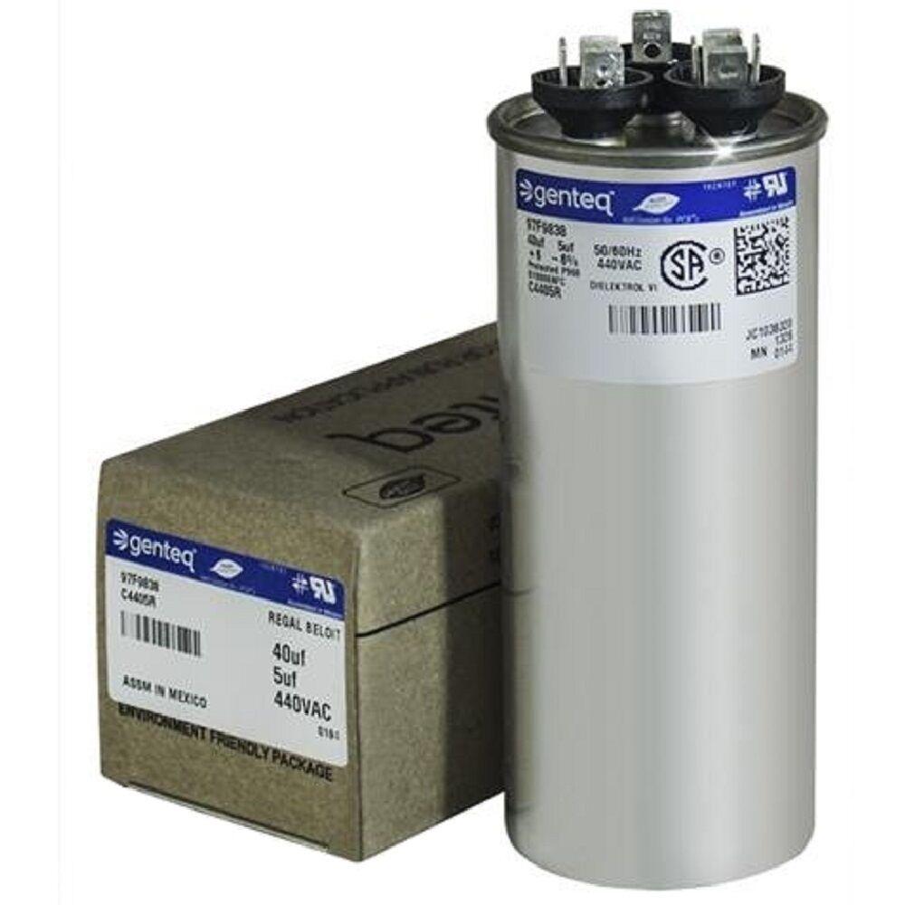 GE Dual Run Capacitor 40/5 uf MFD 440V Round Air Conditioner