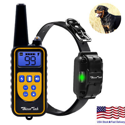 Dog Shock Training Collar Rechargeable Remote Control Waterproof IP67 875 Yards Dog Shock Collar Remote