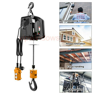 Best Portable 110v Electric Cable Hoist Crane Workshop Lifting Cargo Handling