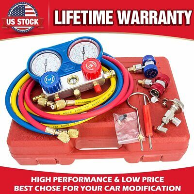 Hvac Ac Refrigeration Kit Ac Manifold Gauge Set Air R12 R22 R134a 410a R404z Us