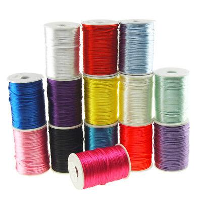 Satin Rat Tail Cord Ribbon Chinese Knot, 1/16-Inch, -