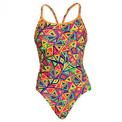 Funkita Damen Frauen Badeanzug Schwimmanzug Back Crazy Crayon