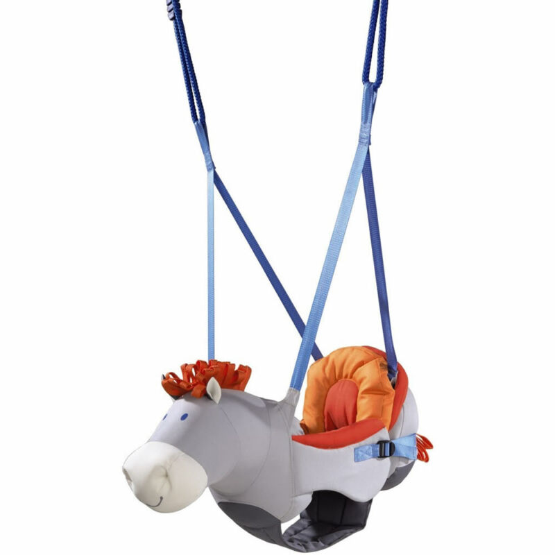 HABA Horse Baby Swing with Removable Back Pad & Adjustable Height & Width