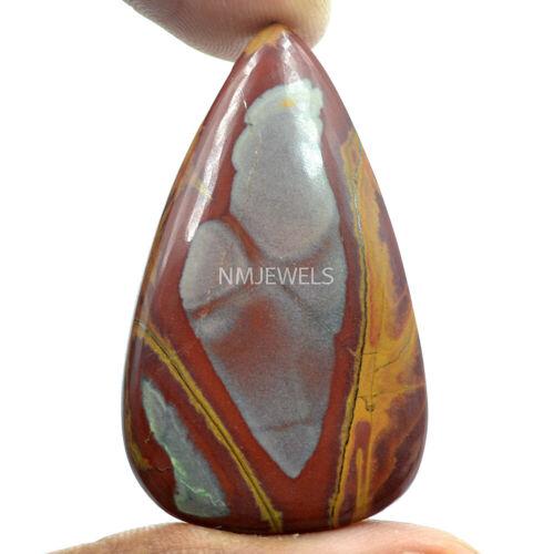 Cts. 48.95 Natural Landscape Painted Noreena Jasper Cabochon Pear Loose Gemstone