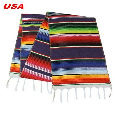 Stock Mexican Serape Table Runner Home Party Decor Fringe Cotton Tablecloth ](Serape Tablecloth)
