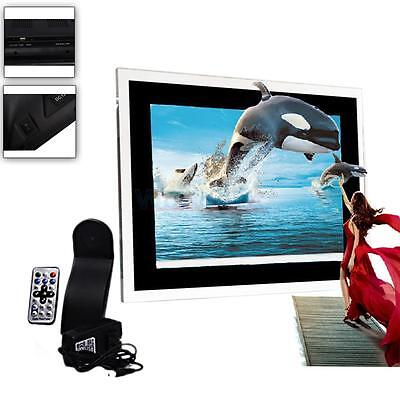 "15"" TFT Screen 16:9 Digital Photo Frame Picture Album Alarm Clock Black"