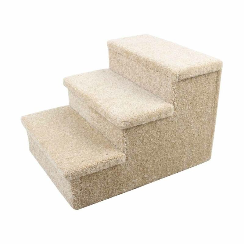 3 STEP PET STAIRS CARPETED upto 150lbs