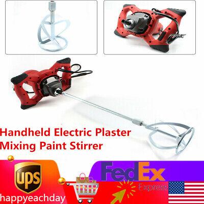 Handheld Electric Plaster Mixing Paint Stirrer Cement Mortar Mixer Stirring Tool