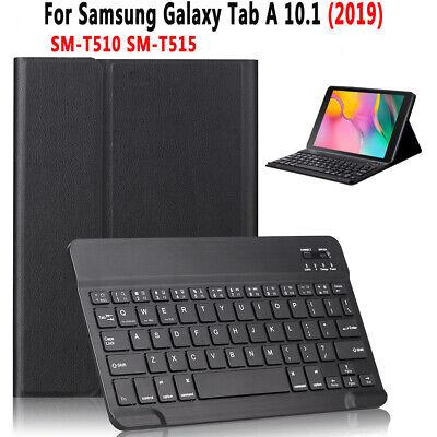 """Für Samsung Galaxy Tab 10,1 """"SM-T510 / T515 Tablet Wireless Tastatur mit Tasche gebraucht kaufen  Versand nach Germany"""