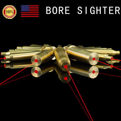 Us Boresighter Red Dot Laser Bore Sight Cartridge Brass Bore Sight Battery Hunt