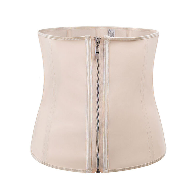 Corset Body Shaper Latex Rubber Waist Trainer Underbust Zipper Slimming Cincher!