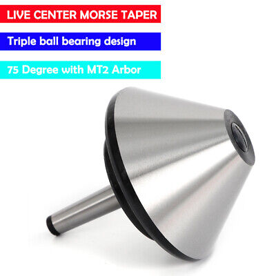 120mm 4.66 Mt2 Bull Nose Lathe Live Center Morse Taper 75 Degree Nose Tool Bit