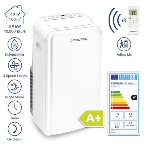TROTEC Lokales Klimagerät PAC 3000 X A+ Mobile Klimaanlage 2,9 kW / 10.000 Btu