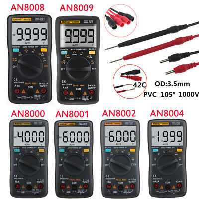 An8000an8009 9999 Counts Digital Lcd Multimeter Acdc Voltage Ammeter Ohmmeter