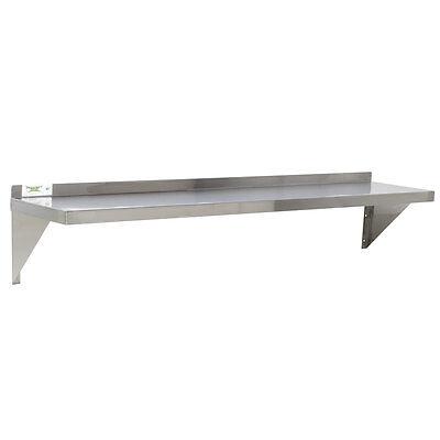 "18 Gauge NSF Restaurant Stainless Steel 12"" x 60"" Solid Wall Shelf 600WS1260"