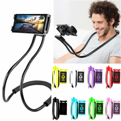 - Universal Lazy Hanging Neck Phone Stand Mount Necklace Support Bracket Holder