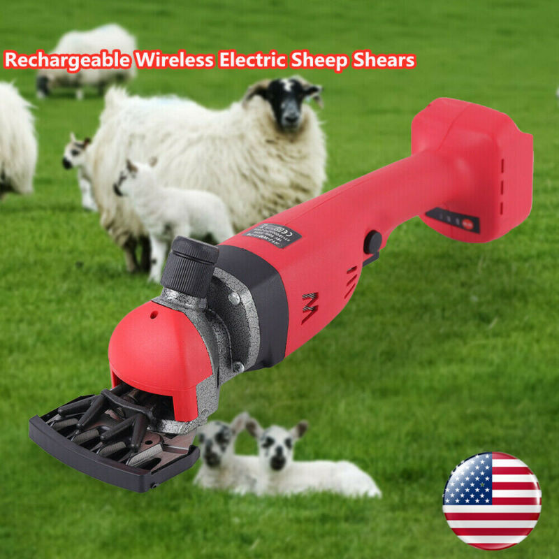 18V Lithium Battery Electric Sheep Shearing Machine Clipper Shears Wool Scissors