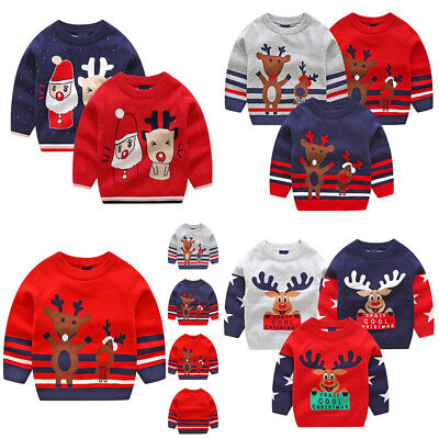 Cute Toddler Infant Baby Kids Christmas XMAS Deer Knitted Tops Sweater Outfits](Cute Toddler Christmas Outfits)