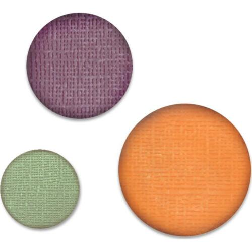"Lot 3 Tim Holtz Sizzix Circle Paper Punch Bundle 3/4"",1"",1 1/4"" 662199 2 Unlockd"
