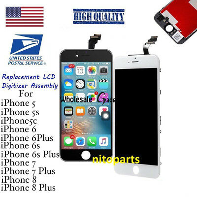 OEM LCD Display Touch Screen Digitizer Replacement For iPhone X 8 7 5 6s 6P  Lot