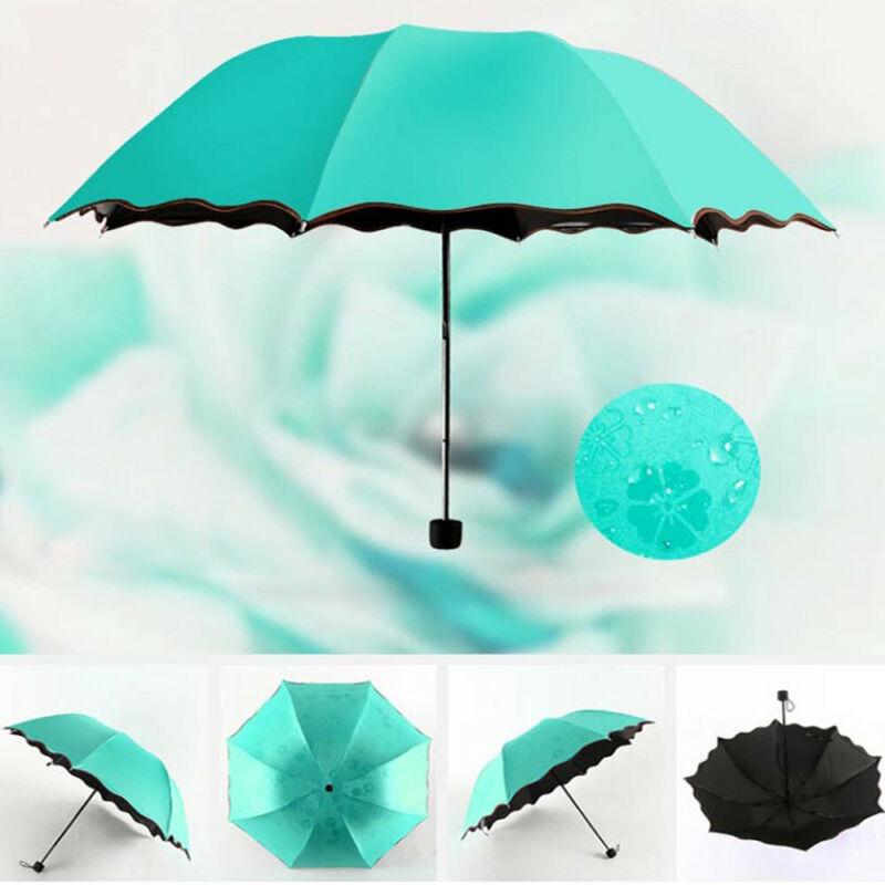 Travel Parasol Folding Rain Windproof Umbrella Folding Anti-